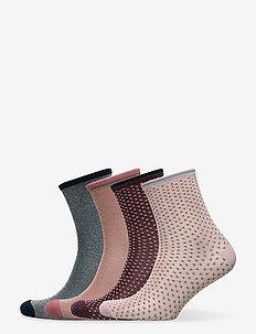 Mix Sock Pack W. 12 - vanliga strumpor - winered/rosa/green/sand