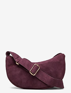Suede Mini Moon Bag - skuldertasker - winetasting