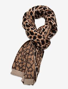 Leoporo Knit Scarf - huivit - brownish