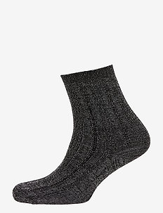 Glitter Drake Sock - socks - black