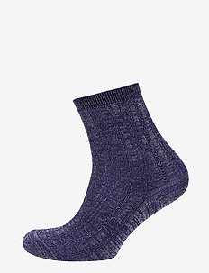 Glitter Drake Sock - socks - royal blue