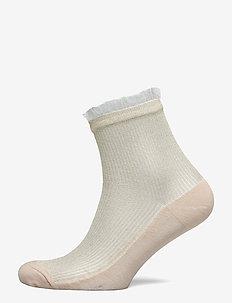 Tullie Sparkle Sock - sokker - sandstone