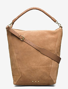 Suede Everly Bag - torby na ramię - brownie