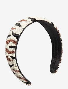 Zobra Beaded Hairbrace - hiusasusteet - black