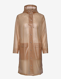 Transparent Magpie Raincoat - regenkleding - muted clay