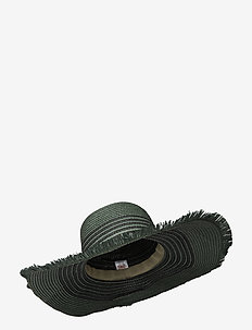 Grethe Straw Hat - olkihatut - army
