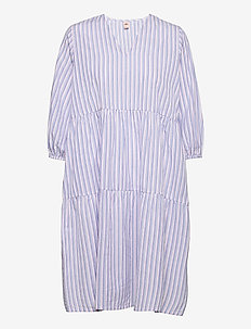 Streaked Sinna Dress - sommerkjoler - eventide
