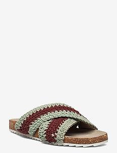 Yvonne Crochet Sandal - platte sandalen - sand