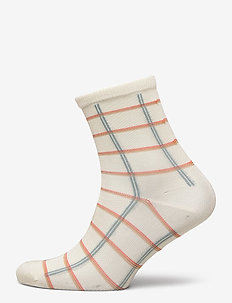 Square Rainbird Sock - sokken - cloud dancer