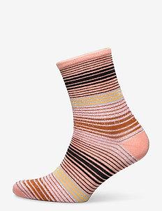 Imma Thin Stripe Sock - nieuwe mode - muted clay