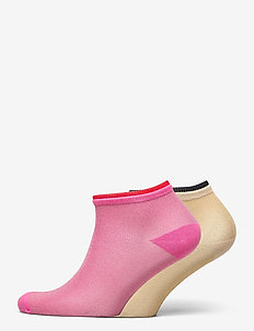 Mix Sock Pack W. 16 - steps & footies - bubblegum/gray