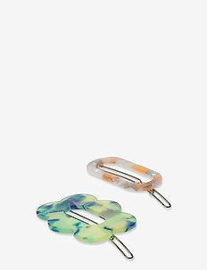 Clarinda Hairclip - hair pins - summer green