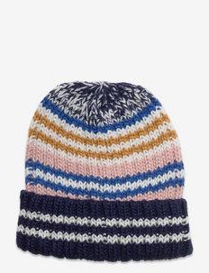 Stripes Doba Beanie - luer - maritime blue