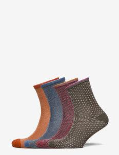 Mix Sock Pack W.15 - crew sokken - orange/blue/violet/olive