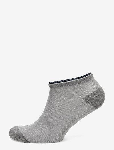 Dollie Solid - ankelstrømper - grey melange