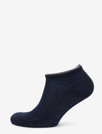 Dollie Solid - ankelstrømper - medieval blue