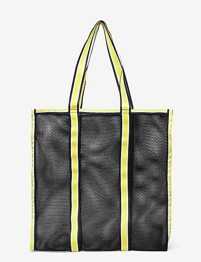 Meshy - tote bags - black