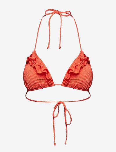 Bini Frills Bela - bikini overdele - red love
