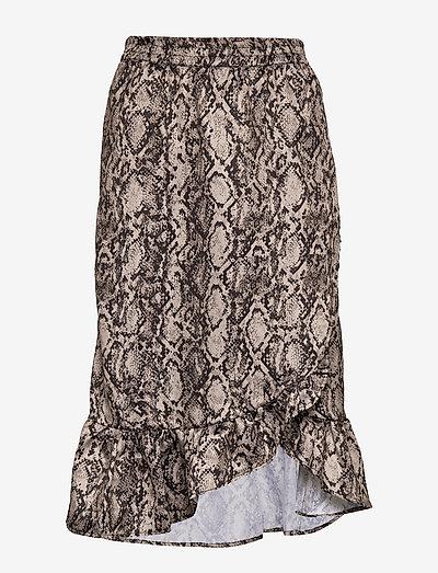 Snakey Chleo Skirt - midinederdele - grey