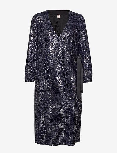 Sequins Everlee Dress - pailletkjoler - blue