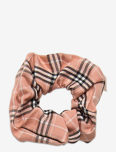 Check Scrunchie Elastic - hiusasusteet - light beige