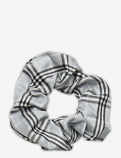 Check Scrunchie Elastic - haar accessoires - light grey