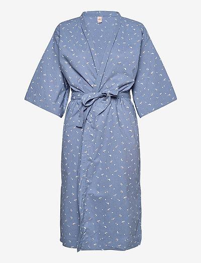 Tiny Flower Liberte Kimono - bedrok - forever blue