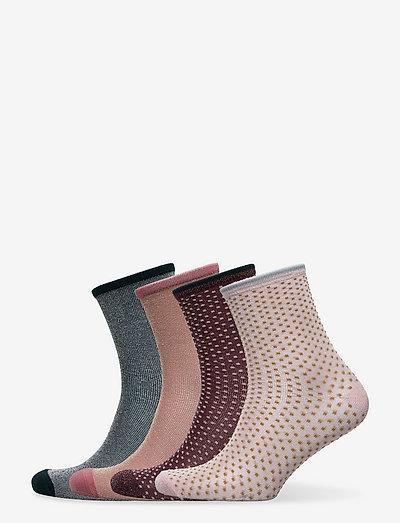 Mix Sock Pack W. 12 - almindelige strømper - winered/rosa/green/sand