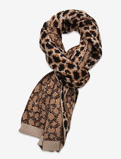 Leoporo Knit Scarf - halstørklæder - brownish