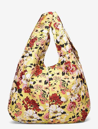 Jacquard Shopper Tote - tote bags - yellow