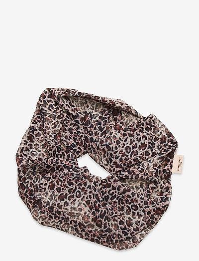 Leo Jumbo Scrunchie - haar accessoires - brownish