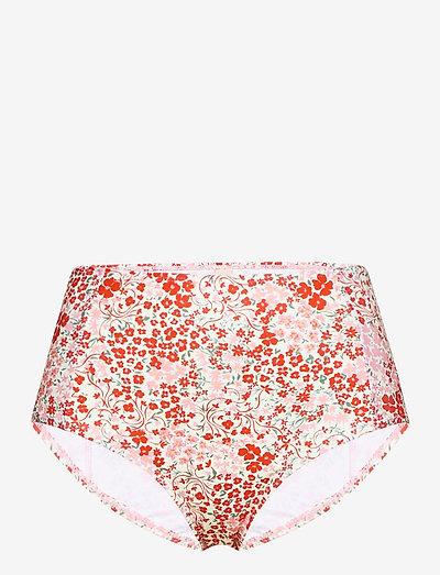 Flofield Highwaist Bottom - højtaljede bikiniunderdele - fiery red