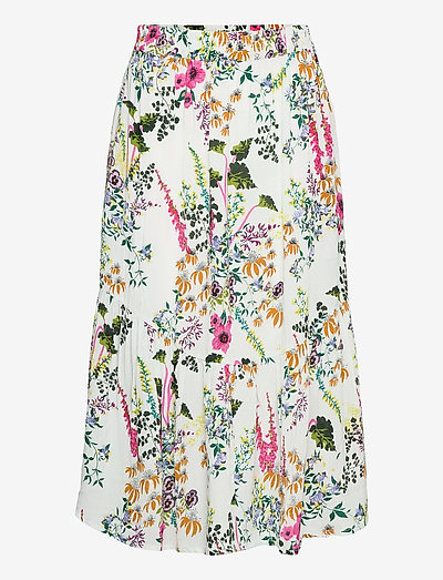 Gardenflo Alina Skirt - midinederdele - white