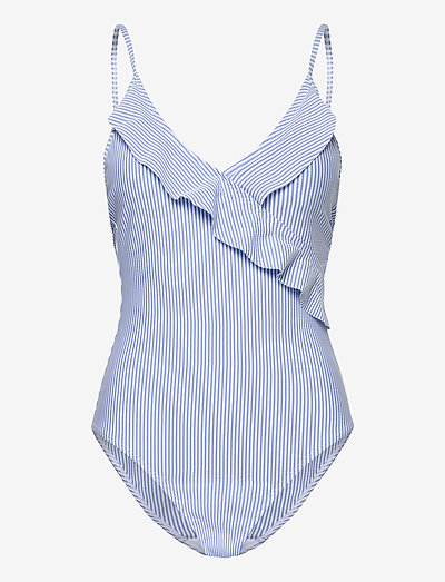 Striba Frill Swimsuit - badedragter - blue