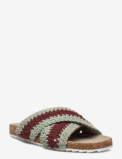 Yvonne Crochet Sandal - flade sandaler - sand