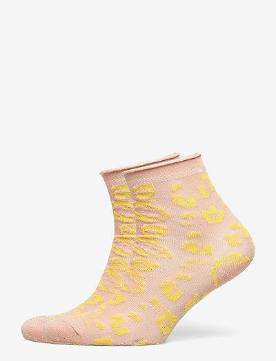 Leonia Glitter Sock - almindelige strømper - muted clay