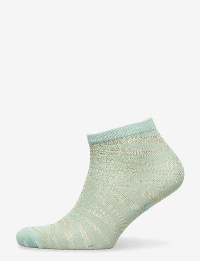 Zebra Glitzi Sock - ankelstrømper - blue surf