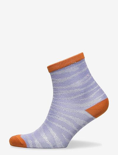 Zebra Glitzi Sock - ankelstrømper - eventide
