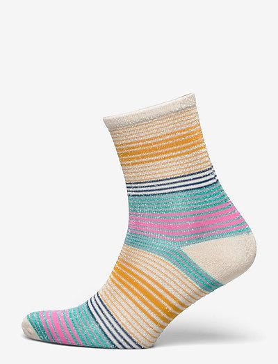 Imma Thin Stripe Sock - almindelige strømper - silver gray