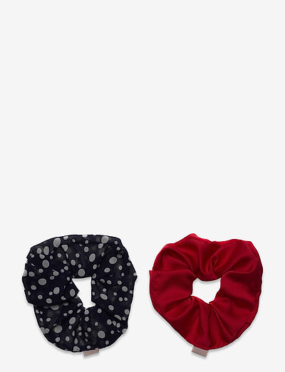 Mix Dotted Scrunchie Pack - scrunchies - night sky/red