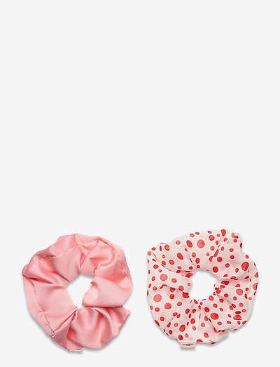 Mix Dotted Scrunchie Pack - scrunchies - red love/pink
