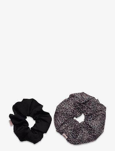Mix Leo Jumbo Scrunchie Pack - scrunchies - brown/black