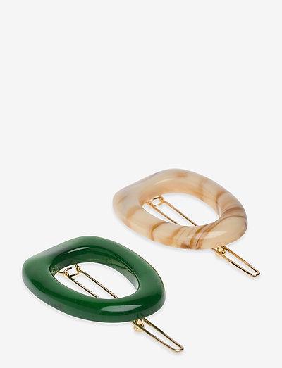 Rocia Hairclip - hårspænder - golf green