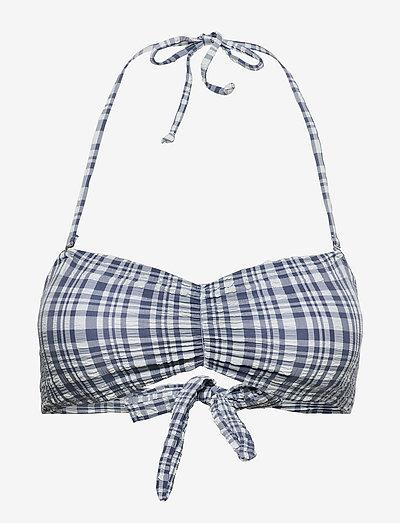 Eli Bandeau Bikini Top - bandeau-bikini - blue shadow