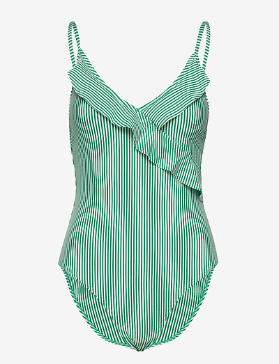 Striba Frill Swimsuit - badedragter - golf green