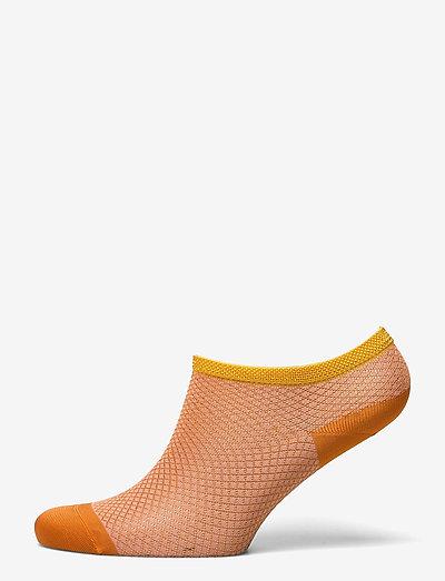 Dollie Harlequin Sock - ankelstrømper - russet orange