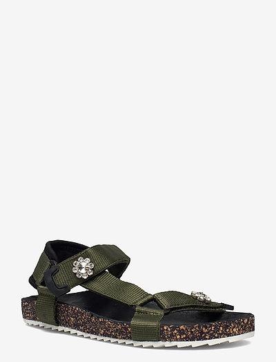 Velcro Galia Sandal - flade sandaler - army