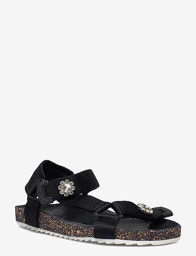 Velcro Galia Sandal - flade sandaler - black