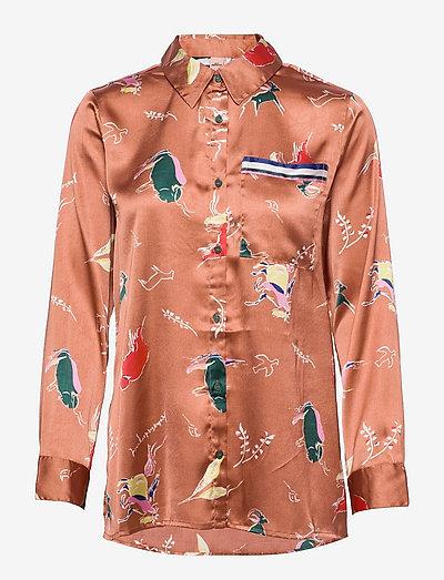 Chumana Amara Shirt - langærmede skjorter - pecan brown
