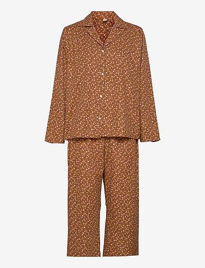 Aiyana Pyjamas Set - pyjamas - pecan brown